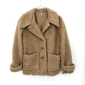 Free People Womens Teddy Coat Sherpa Jacket M